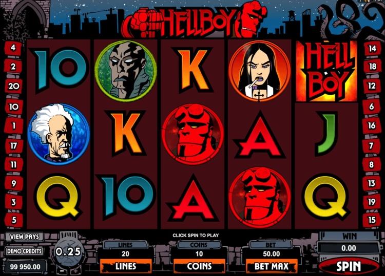 Игровой автомат «Hellboy» в клубе Вулкан Платинум