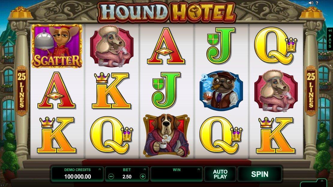 Онлайн аппараты «Hound Hotel» и  официальный сайт казино Azimut 777