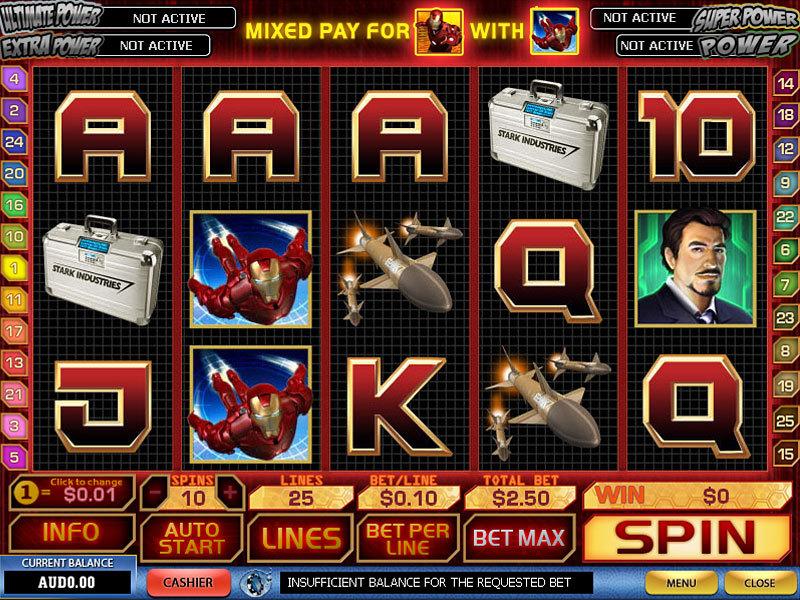 Вулкан онлайн игровые автоматы «Iron Man»