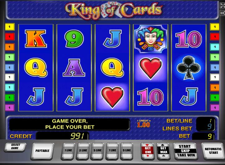 Описание слота «King of Cards» в казино Maxbet