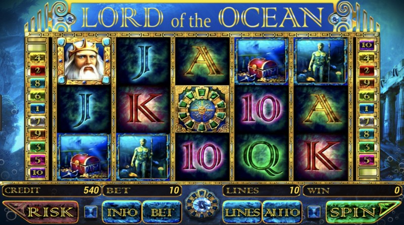 Начни играть в слоты «Lord Of The Ocean» от казино Вулкан