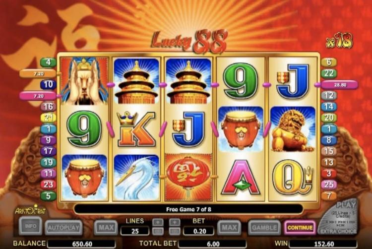 Слоты казино Вулкан «Lucky 88»