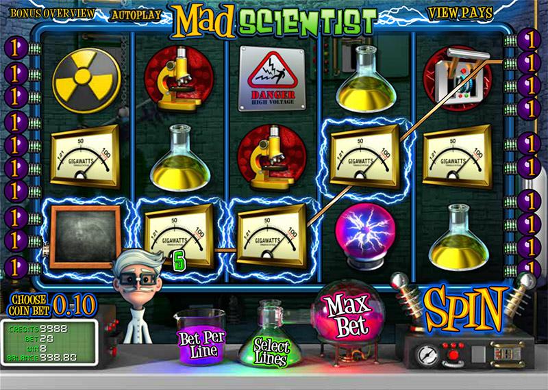 Официальный сайт казино Вулкан и слоты «Mad Scientist»
