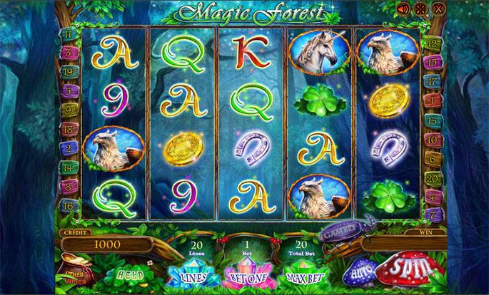 Получите бонус код казино Джойказино для игры на слотах «Magic Forest»