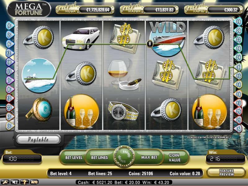 Слоты «Mega Fortune» в казино с бездепозитным бонусом Фараон