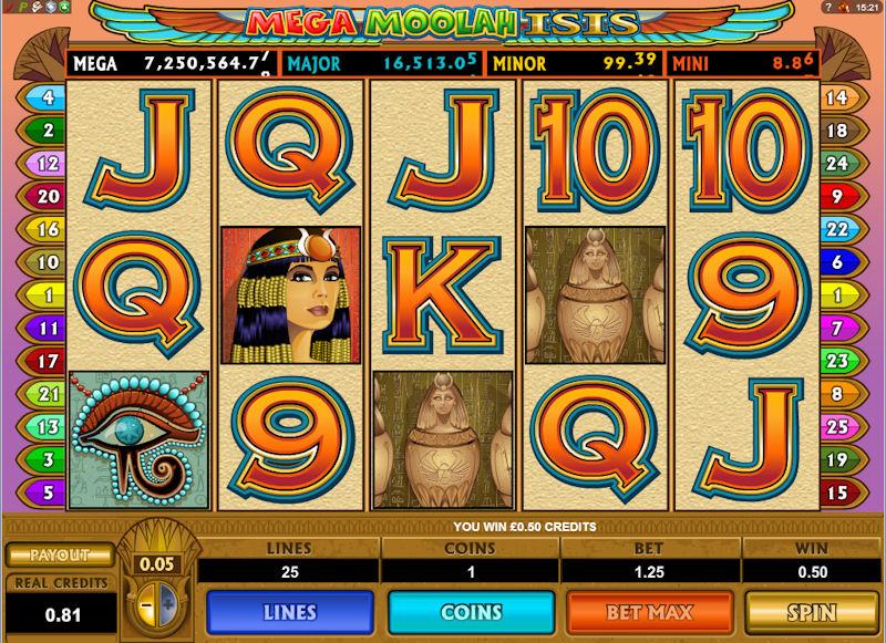 Онлайн аппараты «Mega Moolah» в казино Азино Три Семерки