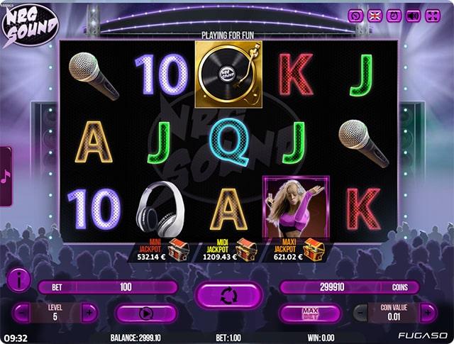 Игровые слоты «NRG Sound» в казино GMSlots