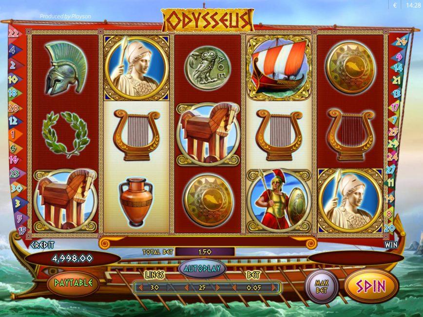 «Оdysseus» — игровые автоматы бесплатно на сайте казино GMSlots