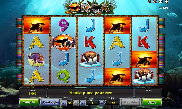 «Orca» — запускайте игровые автоматы бесплатно в казино Вулкан
