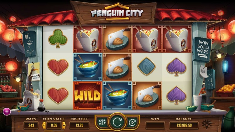 Игровой автомат «Penguin City» на зеркале казино Вулкан