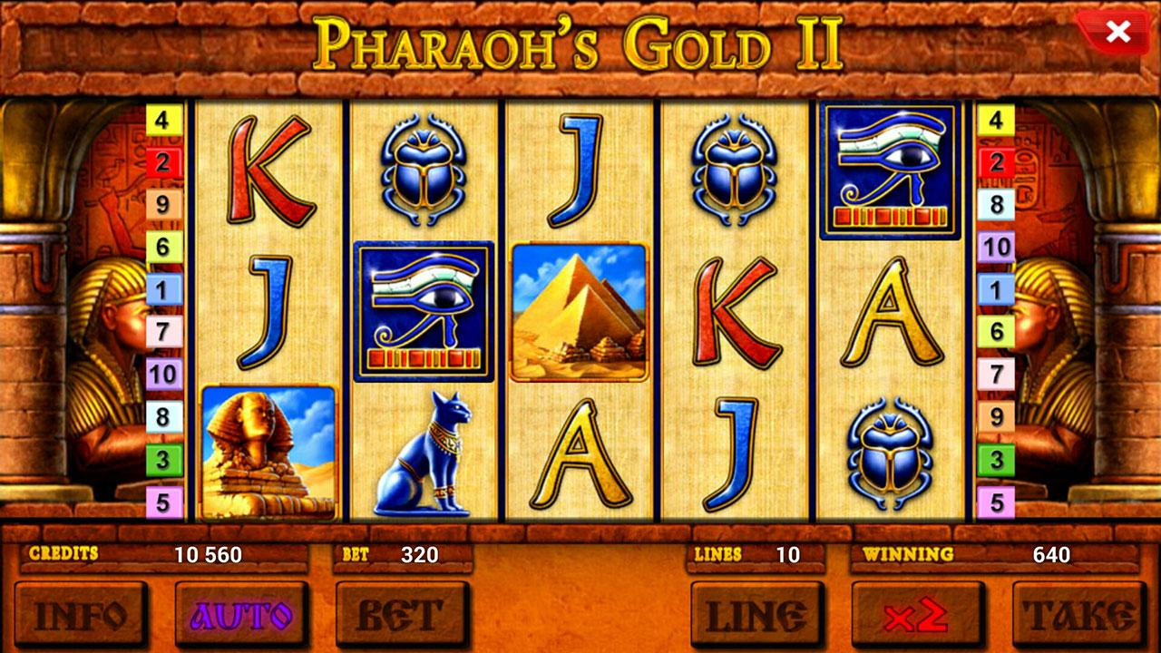 Вулкан Престиж казино (Vulkan Prestige Casino) и слоты «Pharaoh's Gold 2»