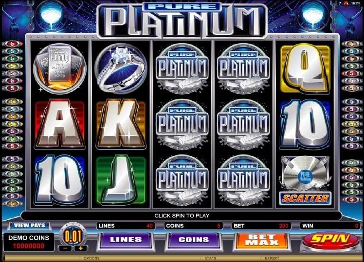 Игровой автомат «Pure Platinum» в казино Чемпион онлайн