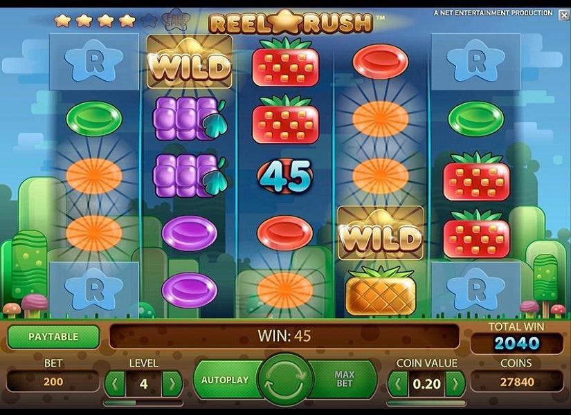 Онлайн слот «Reel Rush» — играйте вместе с казино Колумбус