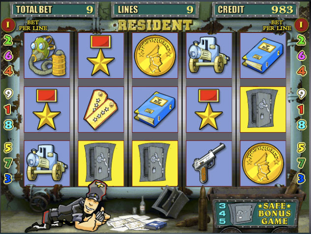 Онлайн аппараты «Resident» в казино Вавада