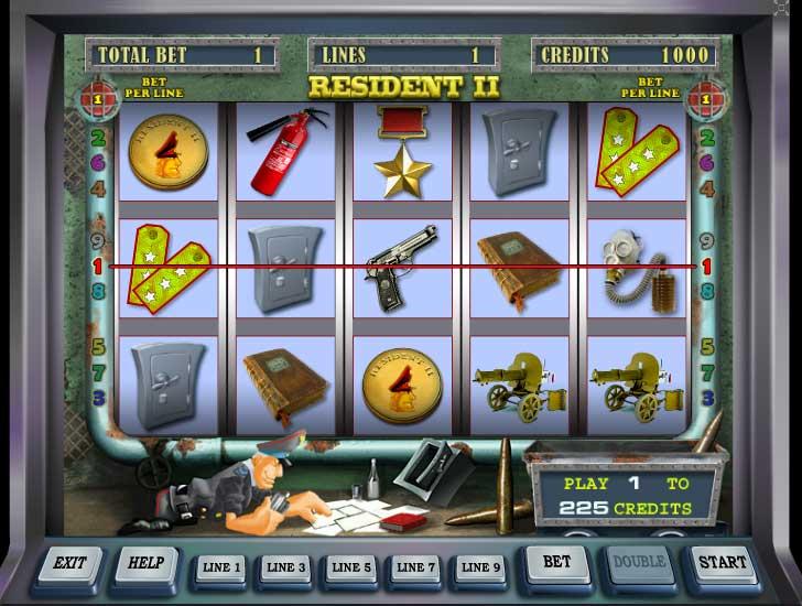 «Resident 2» — аппараты с моментальным выводом денег в казино Вулкан