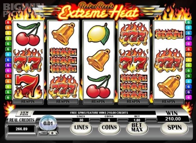 Слоты «Retro Reels Extreme Heat» в онлайн казино на деньги Гаминаторслотс