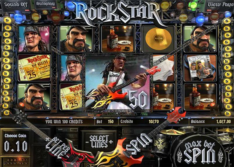 Онлайн аппараты «Rock Star» на официальном сайте казено Вулкан