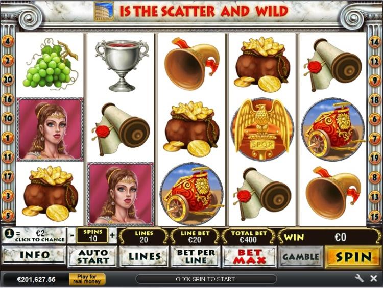 Игровые автоматы онлайн «Rome's Glory» от казино Вулкан Делюкс