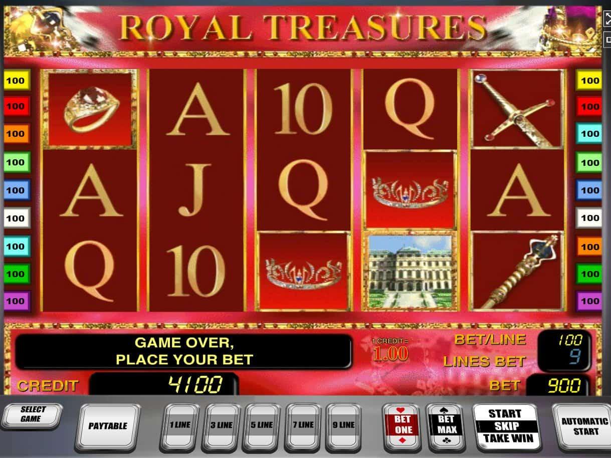 Описание слота «Royal Treasures» в казино Мопс