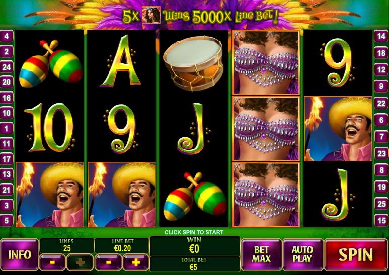 Игровые слоты «Samba Brazil» в Columbus casino