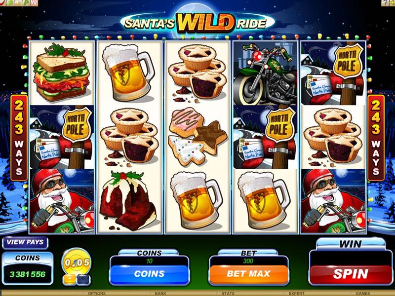 Онлайн аппарат «Santa's Wild Ride» на зеркале Joycasino
