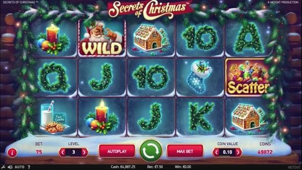 Игровой онлайн автомат «Secrets of Christmas» в клубе Вулкан Вегас