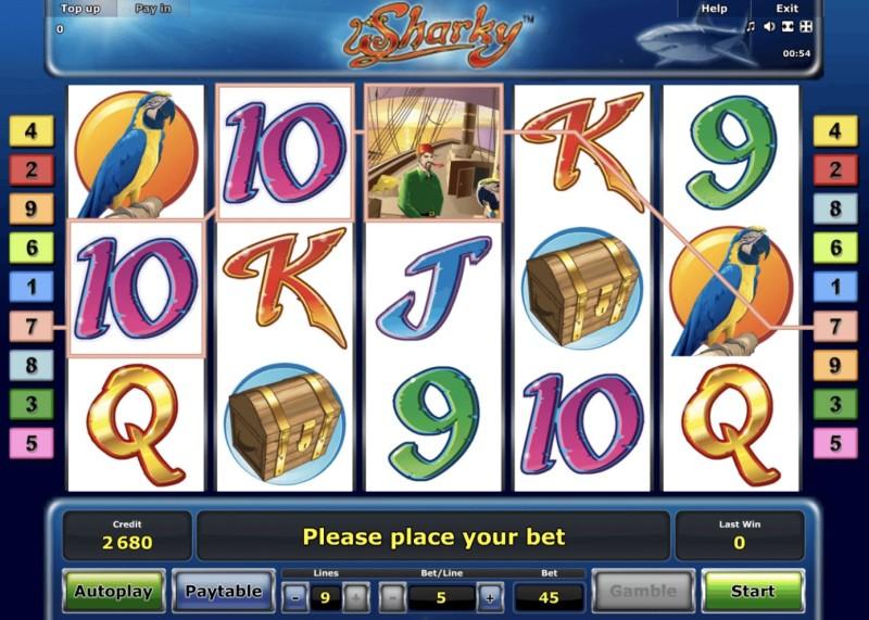 Игровые автоматы «Sharky» в казино Золотой Кубок