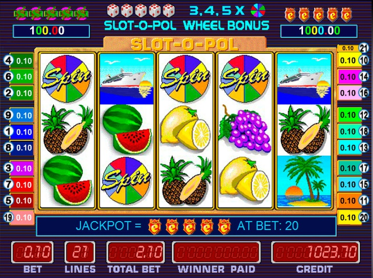 Играйте онлайн в автоматы казино Фараон «Slot-o-pol»