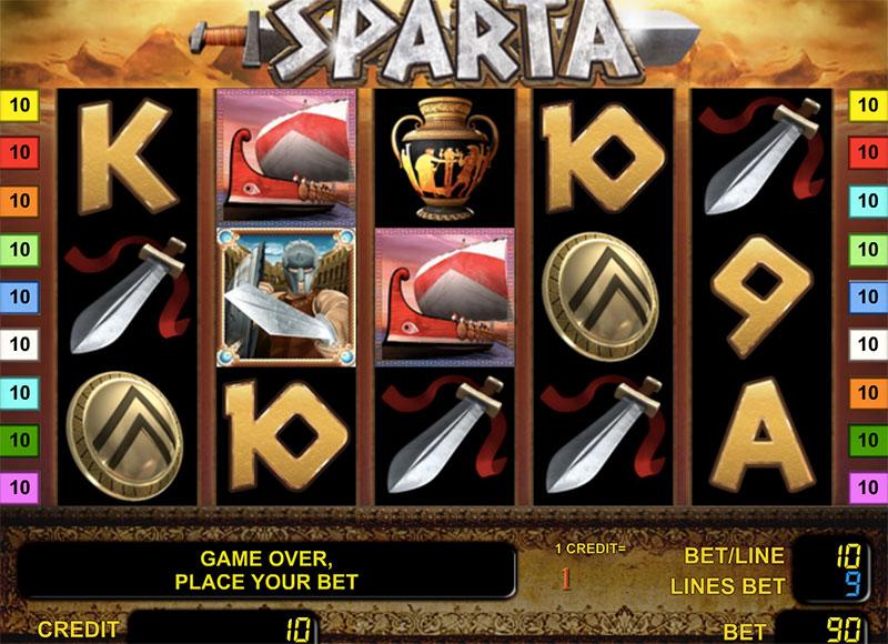 Слоты «Sparta» — спешите скачать в казино Вулкан
