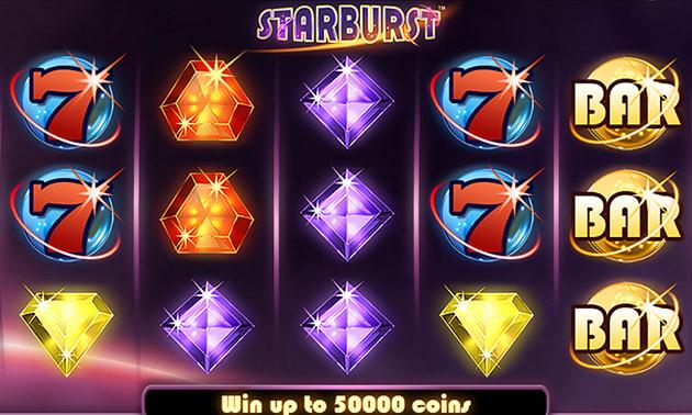 Игровой автомат «Starburst» в виртуальном казино