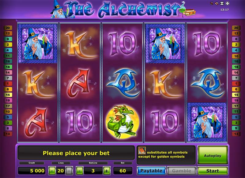 Казино Вулкан на деньги и слоты «Alchemist Deluxe»