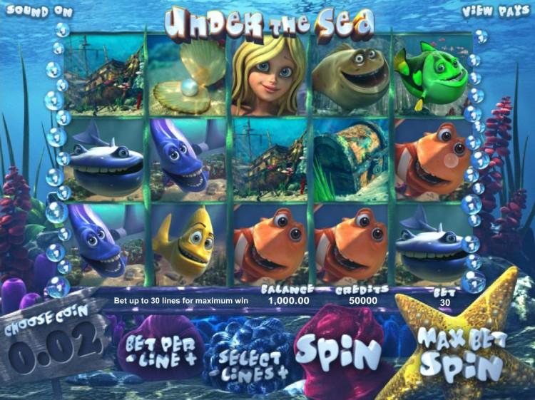 «Under The Sea» — игровые автоматы на деньги в казино Адмирал