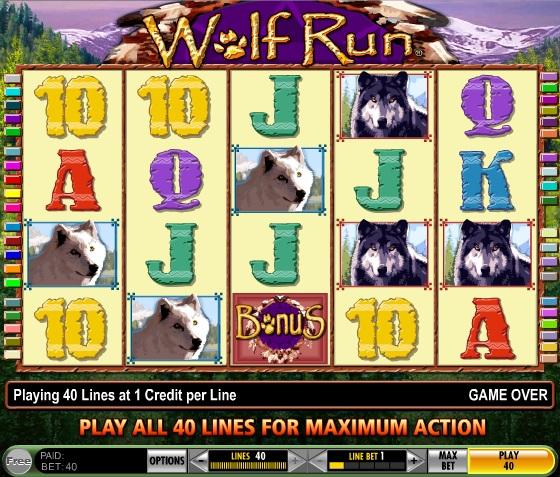 Бонусы Джойказино для игры на слотах «Wolf Run»
