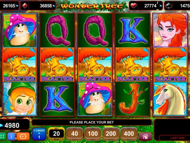 Вулкан бонусы и регистрация для игры на слоте «Wonder Tree»