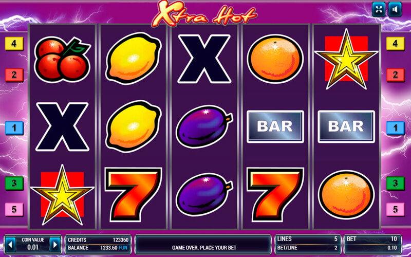 Легендарный слот «Xtra Hot» в игровом зале казино Буй