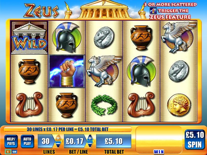 «Zeus» — невероятные игровые автоматы Joycasino